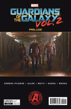 MARVEL GUARDIANS OF THE GALAXY VOLUME 2 PRELUDE #2