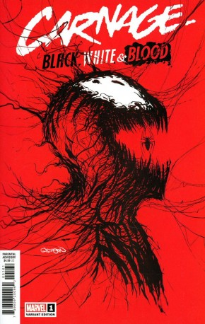CARNAGE BLACK WHITE AND BLOOD #1 GLEASON WEBHEAD VARIANT