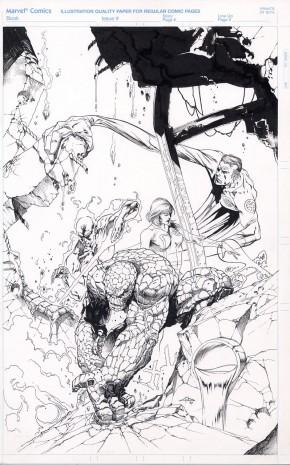 GABRIELLE DELL'OTTO Original Comic Art - FANTASTIC FOUR SPLASH PAGE