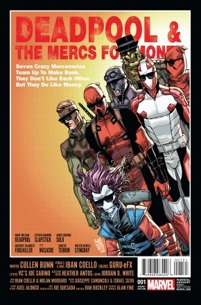DEADPOOL AND THE MERCS FOR MONEY VOLUME 2 #1 CAMUNCOLI 1 IN 25 INCENTIVE VARIANT COVER