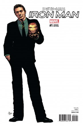 INFAMOUS IRON MAN #1 DEODATO TEASER 1 IN 10 INCENTIVE VARIANT COVER