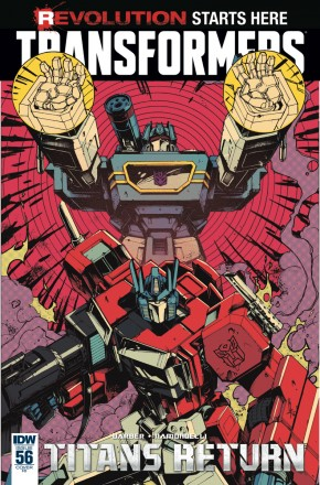 TRANSFORMERS #56 1 IN 10 INCENTIVE VARIANT COVER