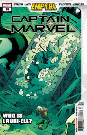CAPTAIN MARVEL #18 (2019 SERIES) 2ND PRINTING EMPYRE TIE-IN 1ST APPEARANCE OF LAURIE-ELL