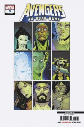 AVENGERS NO ROAD HOME #9  2ND PRINTING