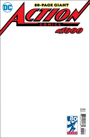 ACTION COMICS #1000 BLANK VARIANT