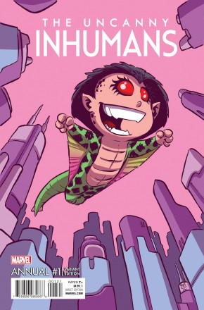 UNCANNY INHUMANS ANNUAL #1 SKOTTIE YOUNG BABY VARIANT COVER