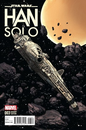 STAR WARS HAN SOLO #3 1 IN 10 MILLENNIUM FALCON INCENTIVE VARIANT COVER