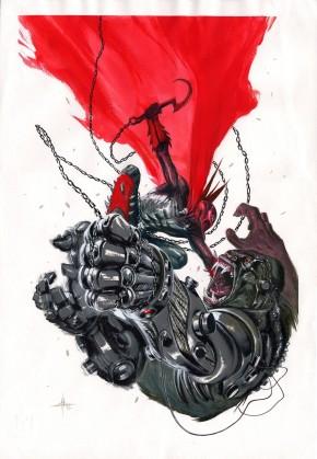 GABRIELLE DELL'OTTO ORIGINAL COMIC ART - SPAWN VS CY-GOR PUBLISHED ART