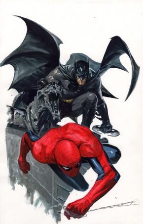 GABRIELLE DELL'OTTO ORIGINAL COMIC ART - BATMAN AND SPIDER-MAN