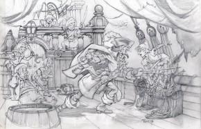 MIKE PLOOG ORIGINAL ART - PETER PAN ORIGINAL PENCIL ART