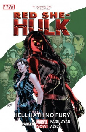 RED SHE-HULK HELL HATH NO FURY GRAPHIC NOVEL