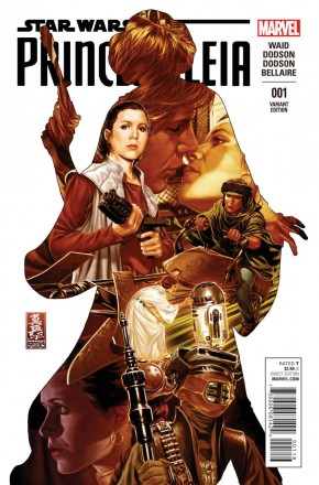 PRINCESS LEIA #1 CASSASY 1 IN 50 BROOKS INCENTIVE VARIANT COVER