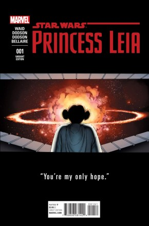 PRINCESS LEIA #1 CASSASY 1 IN 25 TEASER INCENTIVE VARIANT COVER