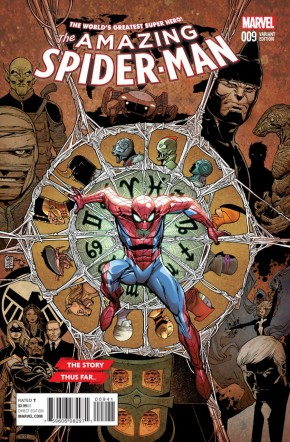 AMAZING SPIDER-MAN #9 (2015 SERIES) CAMUNCOLI STORY THUS FAR VARIANT