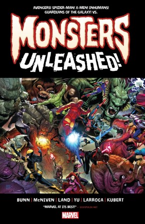 MONSTERS UNLEASHED MONSTER SIZE HARDCOVER