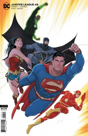 JUSTICE LEAGUE #42 (2018 SERIES) CARD STOCK VARIANT