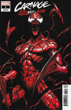 CARNAGE BLACK WHITE AND BLOOD #1 INHYUK LEE VARIANT