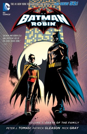 BATMAN AND ROBIN VOLUME 3 DEATH OF THE FAMILY HARDCOVER