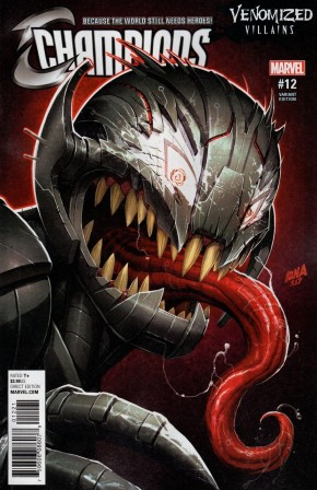 CHAMPIONS #12 (2016 SERIES) VENOMIZED ULTRON VARIANT