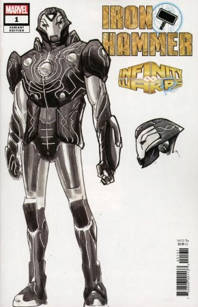 INFINITY WARS IRON HAMMER #1 RAMOS DESIGN 1 IN 10 INCENTIVE VARIANT