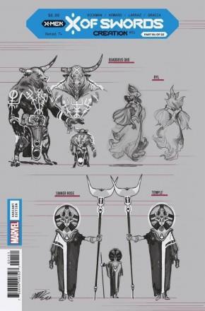 X OF SWORDS CREATION #1 LARRAZ 1 IN 10 DESIGN INCENTIVE