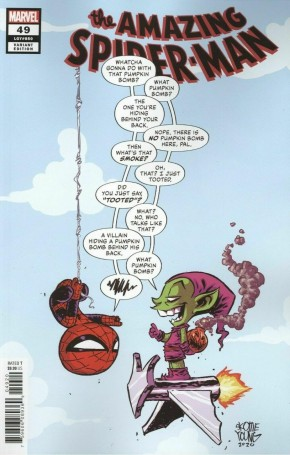 AMAZING SPIDER-MAN #49 (2018 SERIES) SKOTTIE YOUNG BABY VARIANT COVER