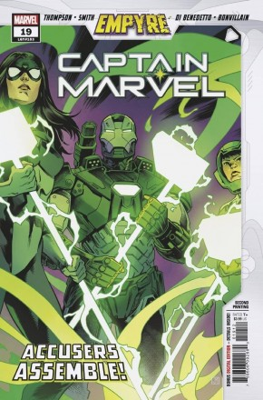 CAPTAIN MARVEL #19 (2019 SERIES) EMPYRE TIE-IN 2ND PRINTING