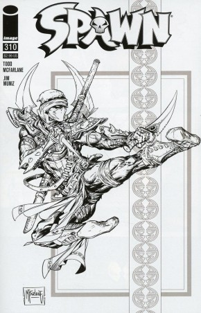 SPAWN #310 COVER D MCFARLANE BLACK AND WHITE