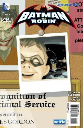 BATMAN AND ROBIN #34 (2011 SERIES) SELFIE VARIANT