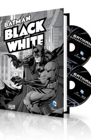 BATMAN BLACK AND WHITE VOLUME 1 HARDCOVER AND DVD BLU RAY SET