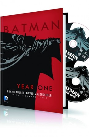 BATMAN YEAR ONE HARDCOVER AND DVD BLU RAY SET