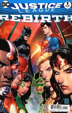 JUSTICE LEAGUE REBIRTH #1 2ND PRINTING