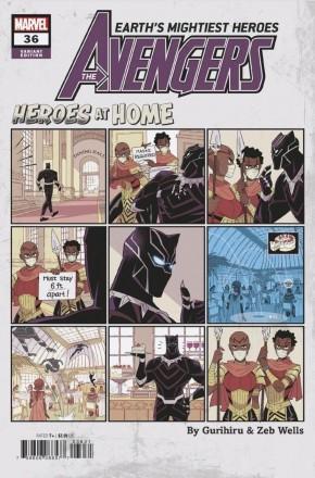 AVENGERS #36 (2018 SERIES) GURIHIRU HEROES AT HOME VARIANT