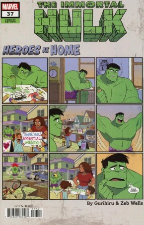 IMMORTAL HULK #37 (2018 SERIES) GURIHIRU HEROES AT HOME VARIANT