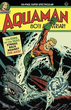 AQUAMAN 80TH ANNIVERSARY 100-PAGE SUPER SPECTACULAR #1 COVER B MICHAEL CHO 1940S