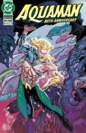 AQUAMAN 80TH ANNIVERSARY 100-PAGE SUPER SPECTACULAR #1 COVER G YVEL GUICHET 1990S