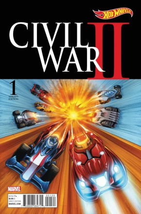 CIVIL WAR II #1 HOT WHEELS 1 IN 10 VARIANT