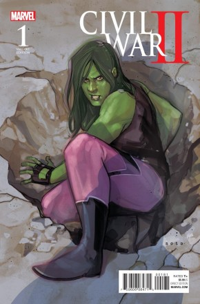 CIVIL WAR II #1 NOTO SHE-HULK 1 IN 10 VARIANT