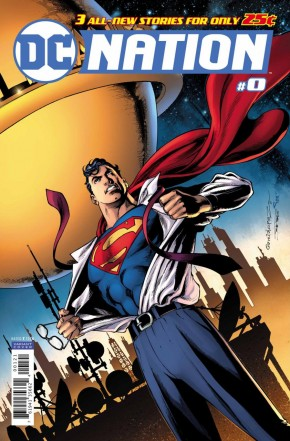 DC NATION #0 1 IN 100 INCENTIVE SUPERMAN VARIANT EDITION
