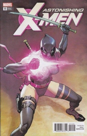 ASTONISHING X-MEN #11  (2017 SERIES) YU DEADPOOL VARIANT
