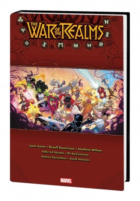 WAR OF THE REALMS OMNIBUS HARDCOVER RUSSELL DAUTERMAN COVER