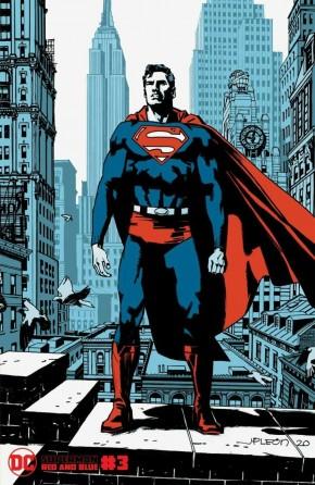 SUPERMAN RED AND BLUE #3 JOHN PAUL LEON VARIANT