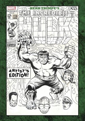 HERB TRIMPE INCREDIBLE HULK ARTIST EDITION HARDCOVER