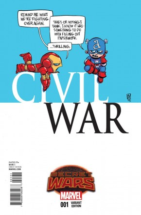 CIVIL WAR #1 (2015 SERIES) SKOTTIE YOUNG BABY VARIANT