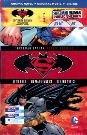 SUPERMAN BATMAN VOLUME 1 HARDCOVER AND DVD BLU RAY SET