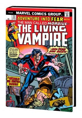 MORBIUS THE LIVING VAMPIRE OMNIBUS DM VARIANT HARDCOVER