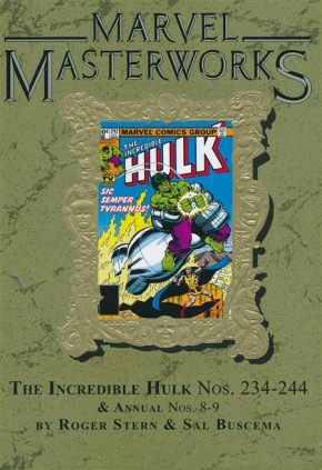 MARVEL MASTERWORKS INCREDIBLE HULK VOLUME 15 DM VARIANT #306 EDITION HARDCOVER