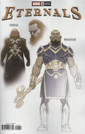 ETERNALS #2 (2021 SERIES) 1 IN 10 RIBIC DESIGN INCENTIVE VARIANT