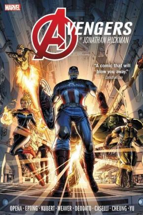 AVENGERS BY JONATHAN HICKMAN OMNIBUS VOLUME 1 HARDCOVER DUSTIN WEAVER COVER