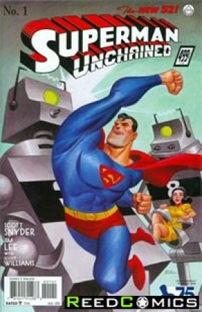 Superman Unchained #1 (75th Anniversary 1930s 1 in 100 Variant Cover)